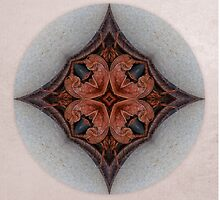 Curly Leaf Mandala 3 by Gail S. Haile