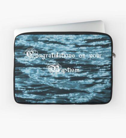 Baptism Card Laptop Sleeve