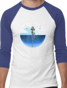 Nature Blues - The Giant Turtle Men's Baseball ¾ T-Shirt