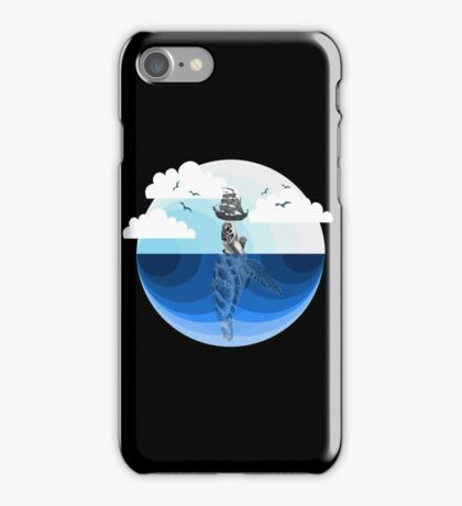 Nature Blues - The Giant Turtle iPhone Case/Skin