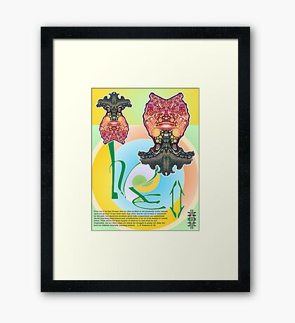 L. R. E. II, Limited Edition, 2009 Commemorative Poster by Leading Upside Down Artist, L. R. Emerson II from the Upside-Down Art Movement; Upsidedownism, Topsy Turvy Art, Ambigram Art, or Masg Art  Framed Print
