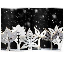 Fantasy winter snow scene  Poster