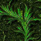Feathery Fronds Abstracted by Dana Roper