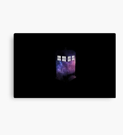 Doctor Who Galaxy Tardis. Canvas Print