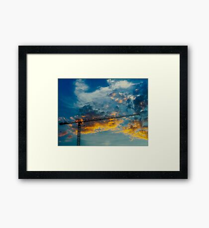 Construction Crane Framed Print