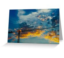 Construction Crane Greeting Card