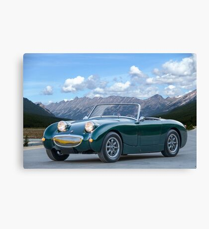 1959 Austin-Healey 'Bug Eye' Sprite Canvas Print