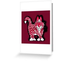 Red, black and white Greeting Card