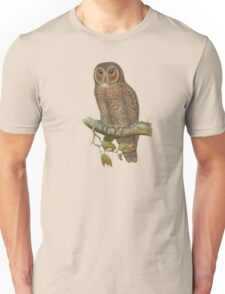 Lonely Owl Realistic Painting Unisex T-Shirt