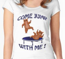 trampolining bears invite Women's Fitted Scoop T-Shirt