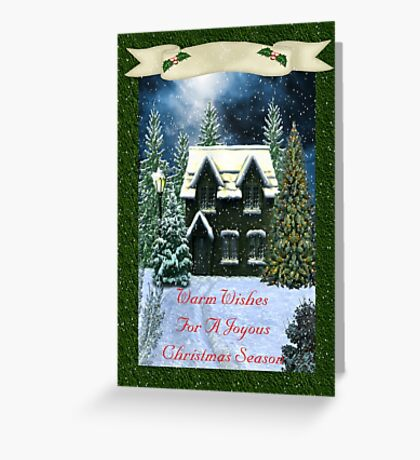 Warm Wishes For A Joyous Christmas Season Greeting Card