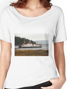 MV Loch Fyne approaching Fishnish Women's Relaxed Fit T-Shirt