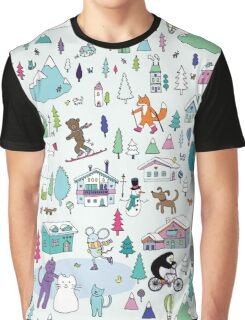 Alpine Animal Antics - original Graphic T-Shirt