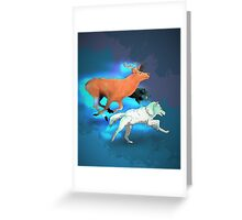 Wormtail, Padfoot, Moony and Prongs Greeting Card