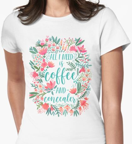 Coffee & Concealer – Juicy Palette Womens Fitted T-Shirt
