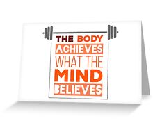 fitness and Gym Greeting Card