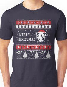 Pitbull Ugly Christmas Sweater Merry Christmas Unisex T-Shirt