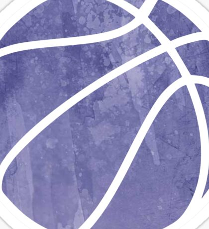 Basketball Purple Sticker