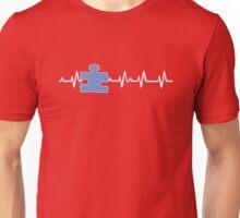 Autism Awareness Ribbon white Unisex T-Shirt