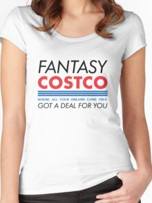 Fantasy Costco Typography Shirt Women's Fitted Scoop T-Shirt