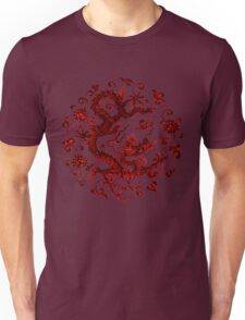 Ancient Style Red Chinese Dragon Unisex T-Shirt