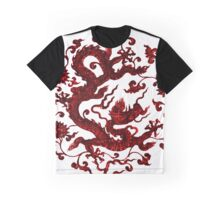 Ancient Style Red Chinese Dragon Graphic T-Shirt
