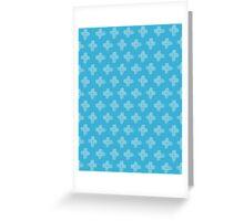 Daisy Cross Embroidery Brush Stroke Greeting Card