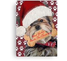 Yorkie What I Want For Christmas Canvas Print