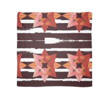 Abstract Rose with Brown Stripes - Square Scarf