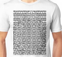 Psychedelic moire pattern black and white  Unisex T-Shirt