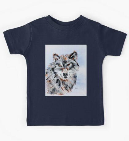 She Wolf - Animal Art by Valentina Miletic Kids Tee