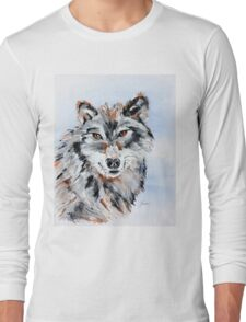 She Wolf - Animal Art by Valentina Miletic Long Sleeve T-Shirt