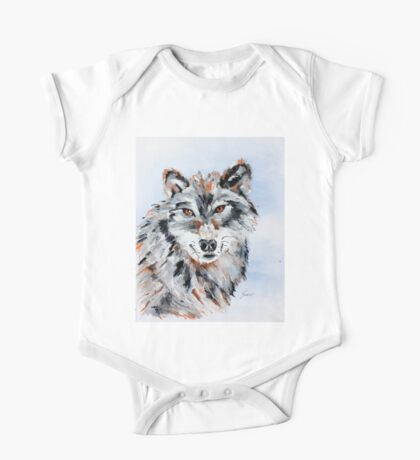 She Wolf - Animal Art by Valentina Miletic One Piece - Short Sleeve