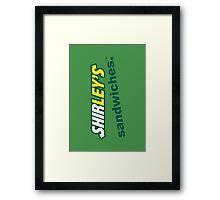 Shirley's Sandwiches Framed Print