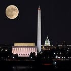 Une nuit sous la lune - Washington - District of Columbia by Matsumoto
