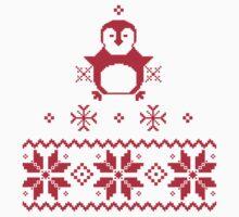Scandinavian Penguin Holiday Design Kids Tee