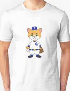 Cat Playing Baseball Unisex T-Shirt