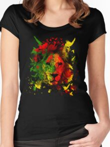 Rasta Lion Women's Fitted Scoop T-Shirt