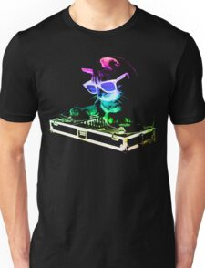 Rainbow DJ Cat Unisex T-Shirt