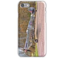 Supermarine Spitfire MJ730 Drawing - Portrait iPhone Case/Skin