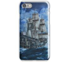 Ship at sea iPhone Case/Skin