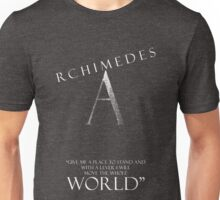 Archimedes Quote and Logo Unisex T-Shirt