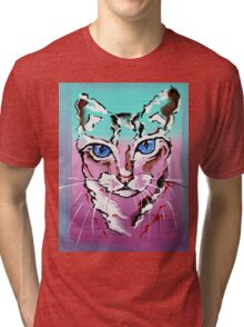 Colorful Cat - Animal Art by Valentina Miletic Tri-blend T-Shirt