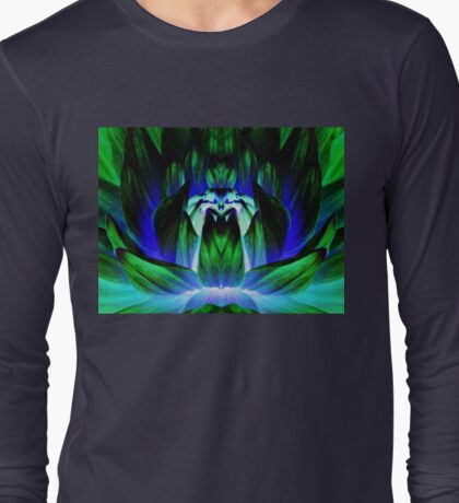 Green and Blue abstract. Long Sleeve T-Shirt