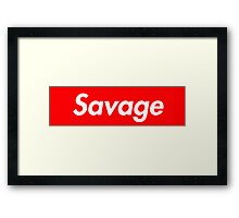 Savage x Supreme Framed Print