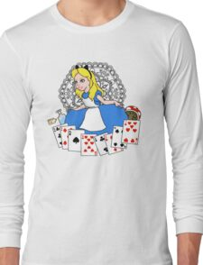 Alice in playing cards Long Sleeve T-Shirt