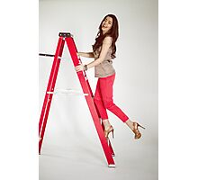 Photoshoot - Up The Ladder Photographic Print