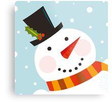 Good morning, Snowman! Cute art illustration Metal Print