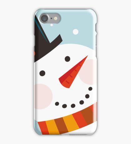Good morning, Snowman! Cute art illustration iPhone Case/Skin