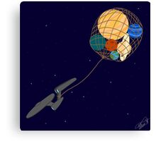 Captain Kirk Wants All The Planets Canvas Print